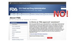 FDA does not approve Stevia NO
