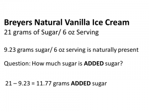 breyers ice cream 11.77 grams added sugar