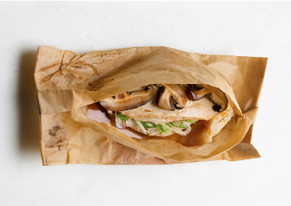 Ginger-Scallion Shiitake Chicken Parchment Packs | Clean ...