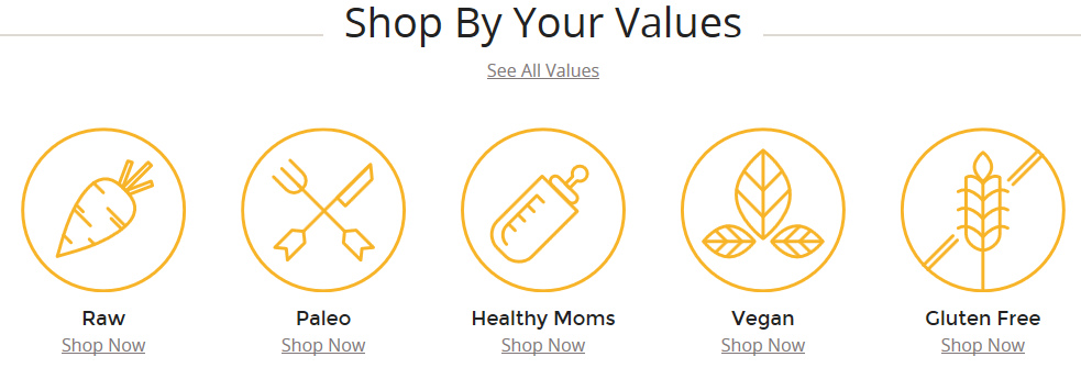 shop by your values