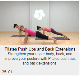 Pilates Push Ups and Back Extension